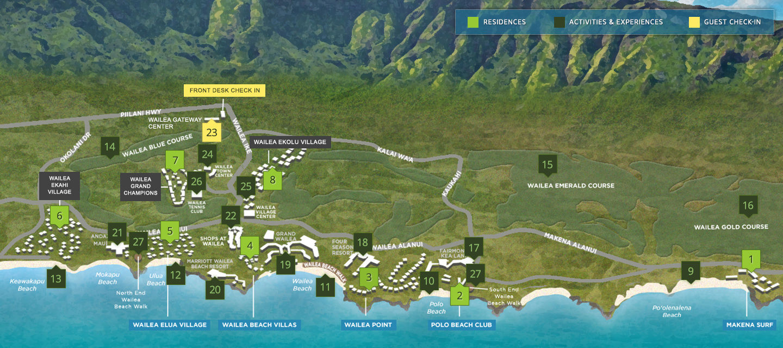 Resorts In Maui Hawaii Destination Residences Hawaii Resort Map Makena Resort
