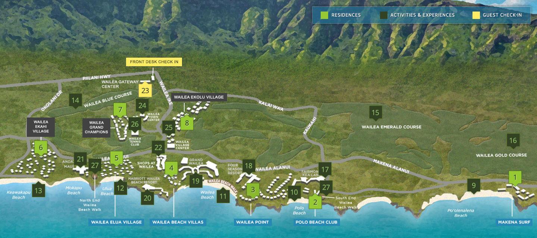 Map Of Destination Resorts Hawaii