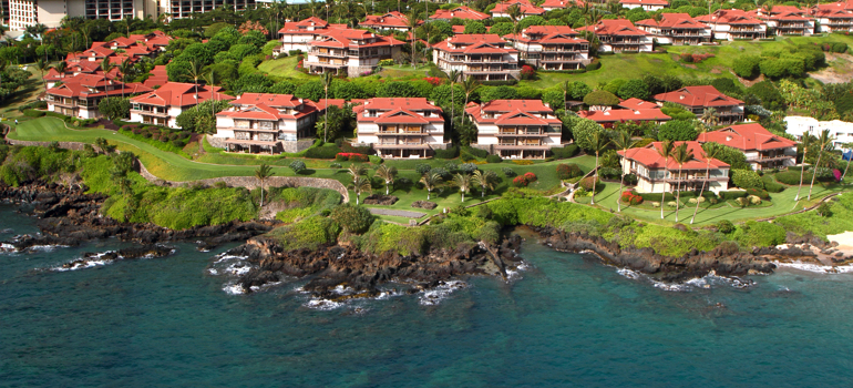 Wailea Point Condos Aerial View