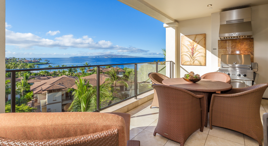 Wailea Beach Villas Lanai With Ocean View