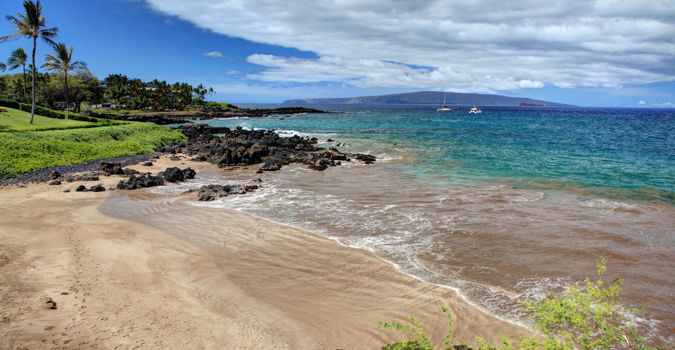 Views of the beach at Makena Surf