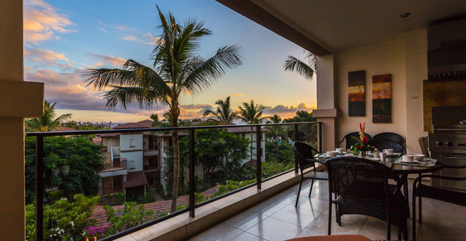 Sunset view from Wailea Beach Villas penthouse