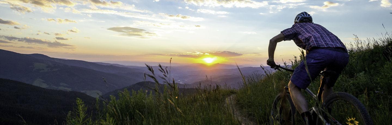 mtb sunset