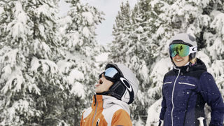 Catching snowflakes in Vail, Colorado