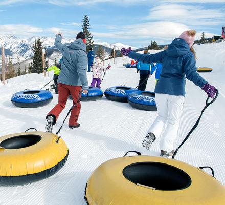 Family enjoying Adventure Ridge activities at Vail, CO.