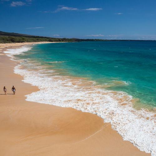 Sunny beach day on Maui