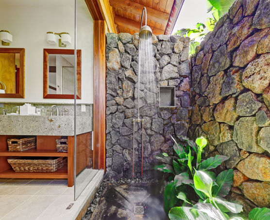 Indoor Outdoor bathroom space