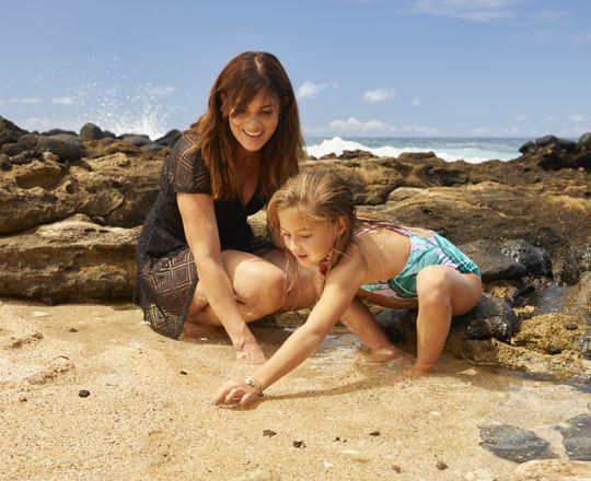 Kids play in tidal pool