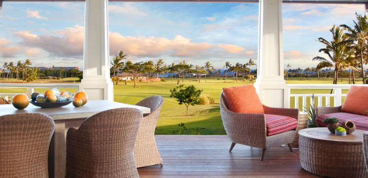 DRH_Kauai_Residences_bungalowC_2bedroom_2story_lanai1_sunset