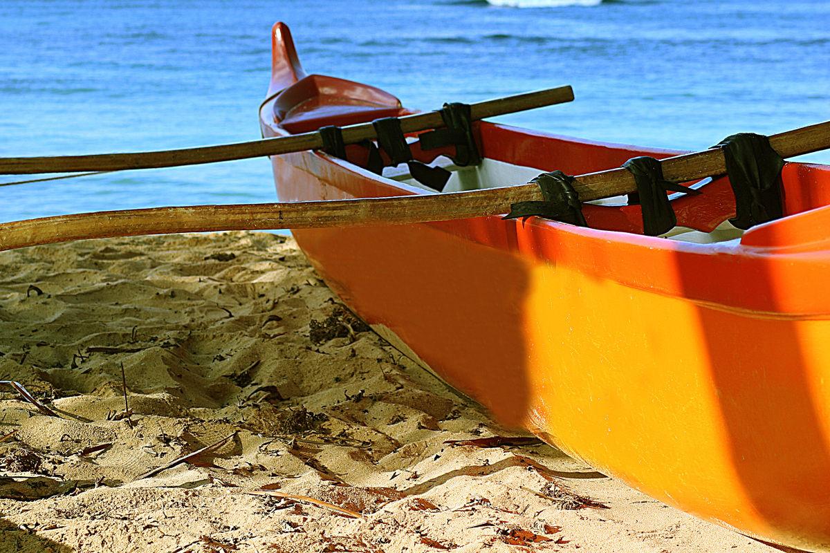 Outrigger Canoe Closeup