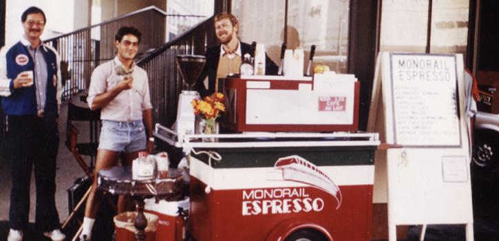 The monorail original coffee cart.