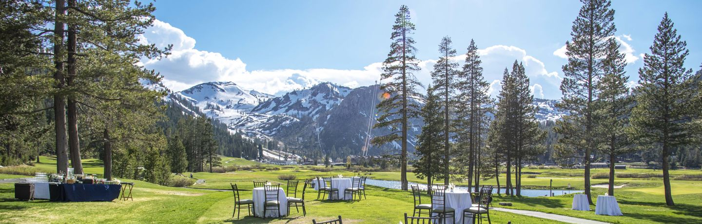 Resort At Squaw Creek Outdoor Wedding Reception