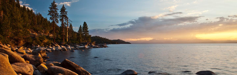 Resort at Squaw Creek_Recreation_Lake Tahoe Rocky Shoreline Sunset