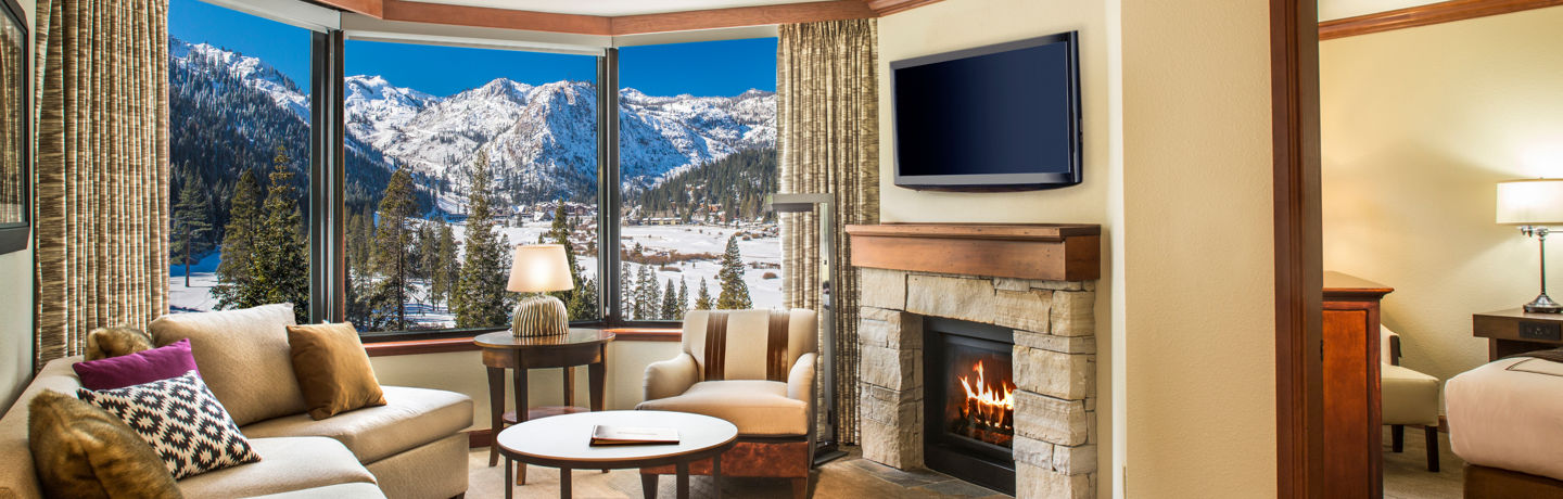 Resort at Squaw Creek_Suite_ Fireplace Suite Living Room