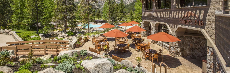 Sandy's Pub deck, Resort at Squaw Creek