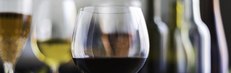 Glasses of wine, red wine