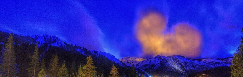 Heart Cloud over Peaks