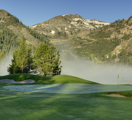 Fog along our golf course, Resort at Squaw Creek