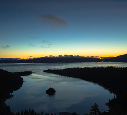 Sunrise At Emerald Bay On Lake Tahoe