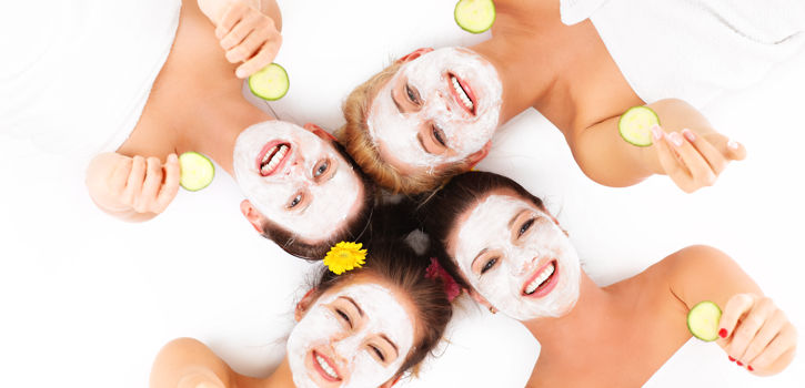 Group Of Women With Spa Facial Masks