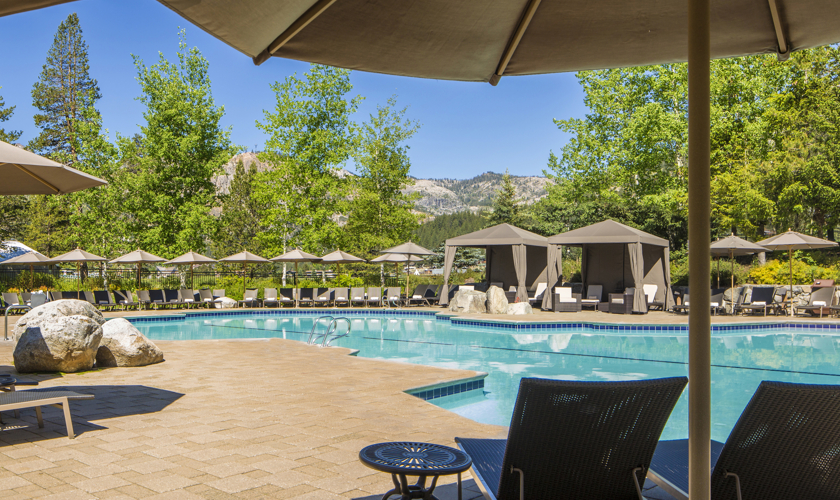 Poolside cabanas, Resort at Squaw Creek
