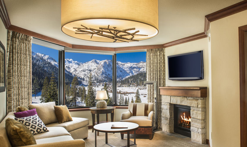 Resort at Squaw Creek Fireplace Suite living room