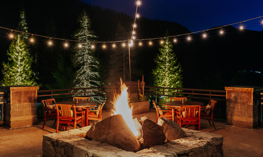 RSC_Dining_Six Peaks Patio_Firepit Night