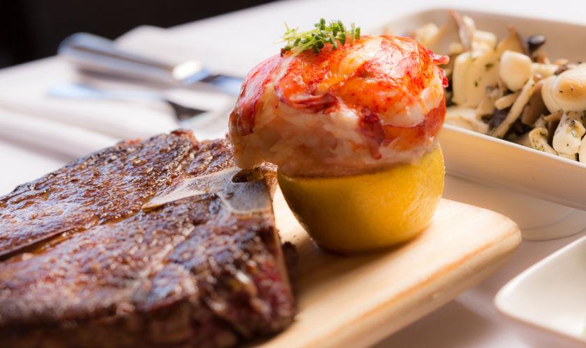 Steak & Lobster Dish from Six Peaks Grille
