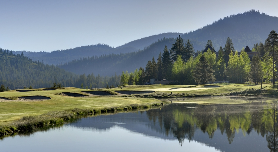 Golf course pond, Resort at Squaw Creek