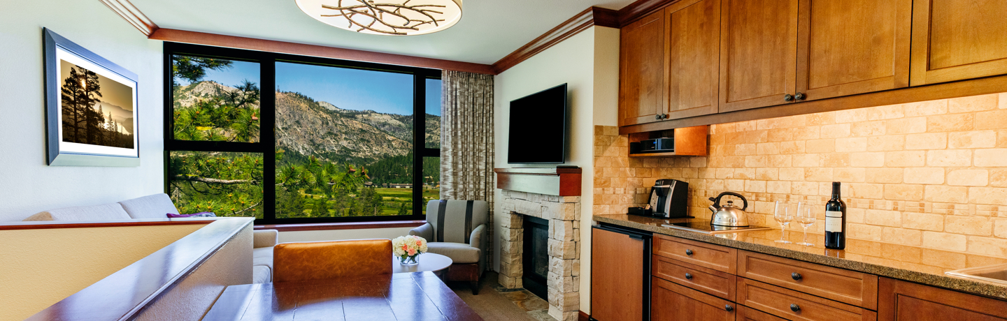 Suite with Fireplace & Mountain View