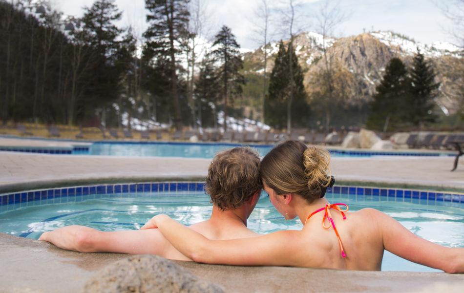Hot tub at Resort at Squaw Creek