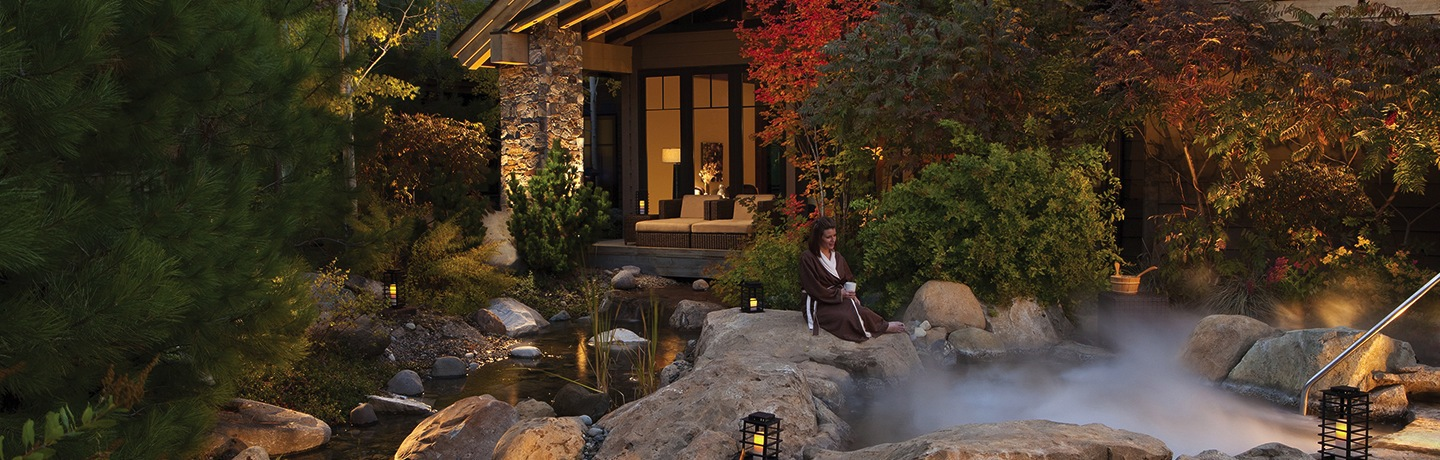 Glade Spring Spa Entrance at Suncadia Resort & Spa Washington
