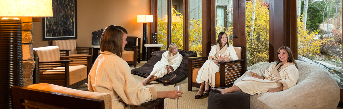 Women Awaiting Spa Services at Suncadia Resort & Spa in Washington State