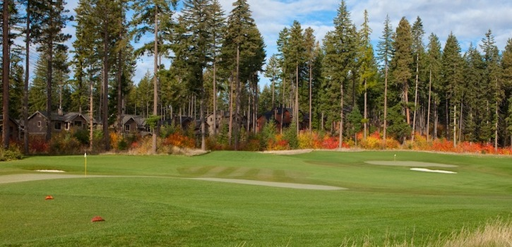 golf course during the fall foliage