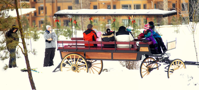 Winter Sleigh Rides at suncadia resort