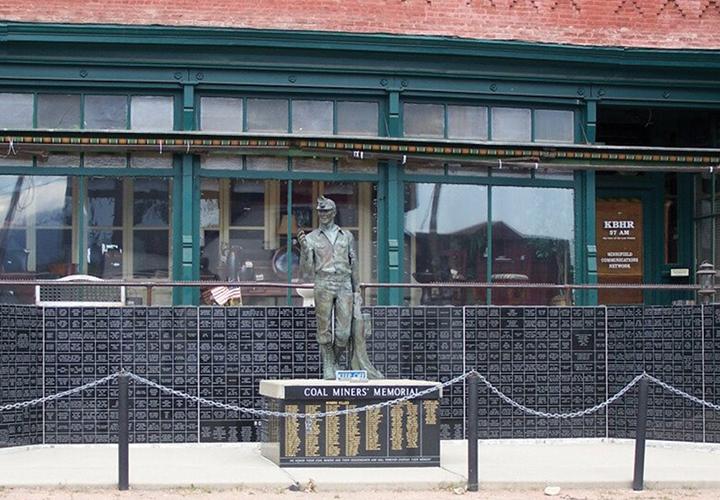 old statue in roslyn, WA