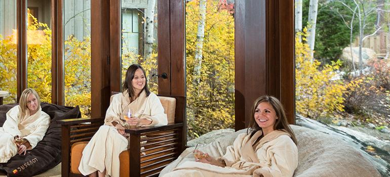 three women in suncadia spa