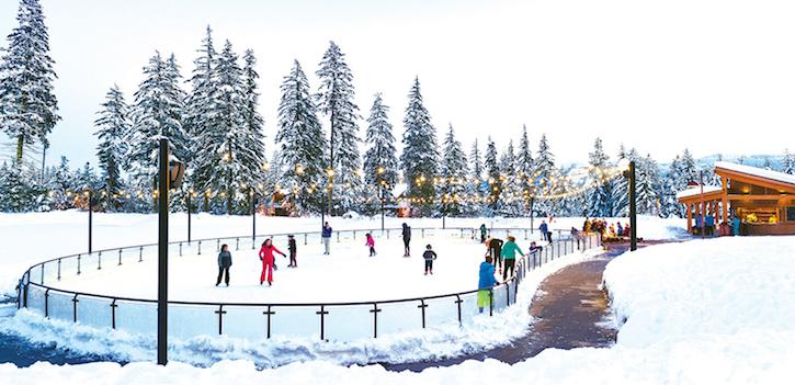 Ice Skating at Suncadia Resort in Cle Elum
