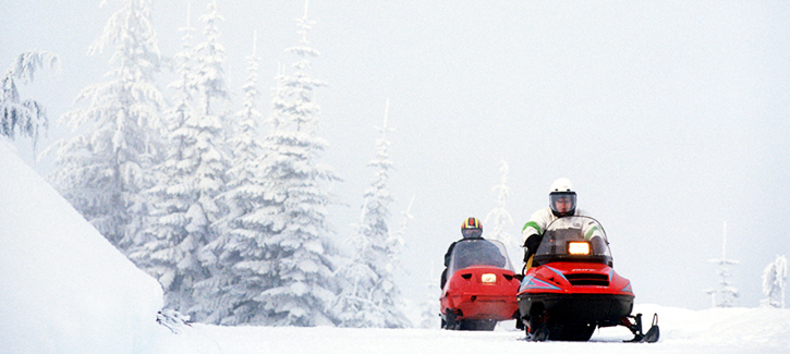 Snowmobiling at Suncadia Resort in Washington State