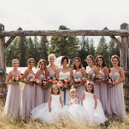 Wedding Party at Suncadia Resort & Spa in Cle Elum