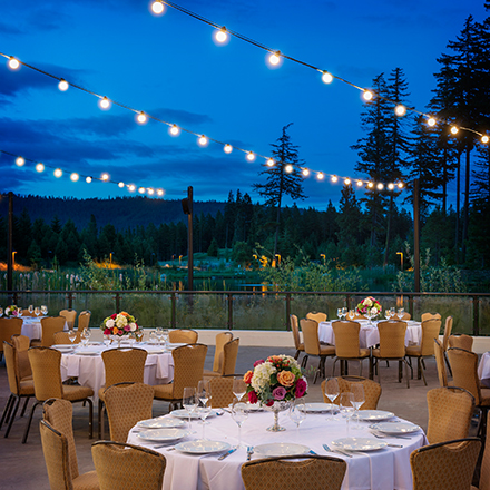 Suncadia Resort Outdoor Wedding Reception in Washington State
