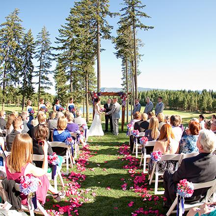 Suncadia Outdoor Wedding Reception in Washington State