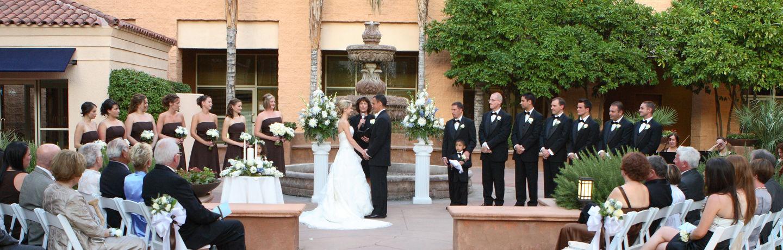 Tempe AZ Outdoor Wedding Reception