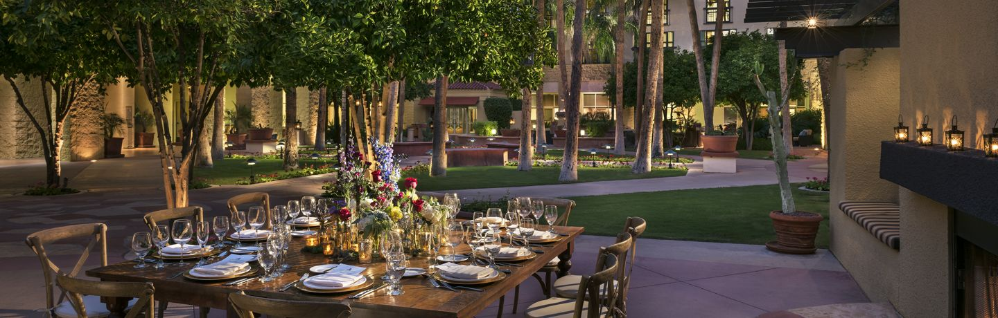 Tempe AZ Outdoor Wedding Reception