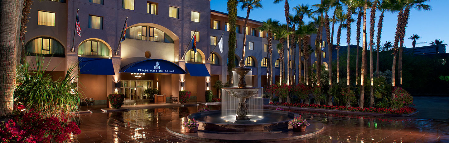Tempe Mission Palms Hotel Front Entrance