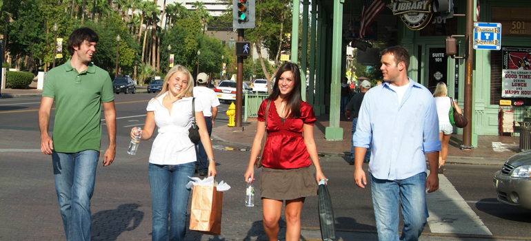 People Shopping on Mill Avenue