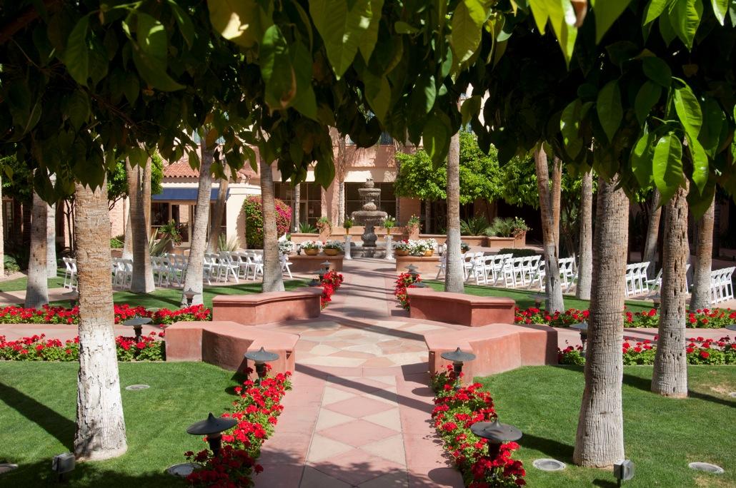Courtyard Patio Wedding