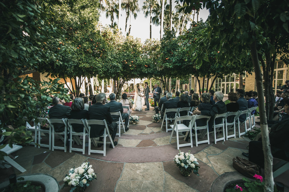 Tempe AZ Courtyard Wedding