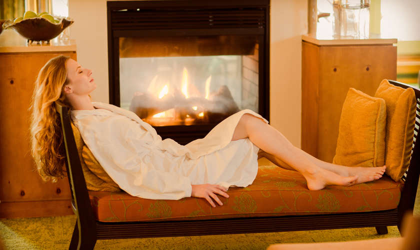 Stowe Spa Fireplace Relax