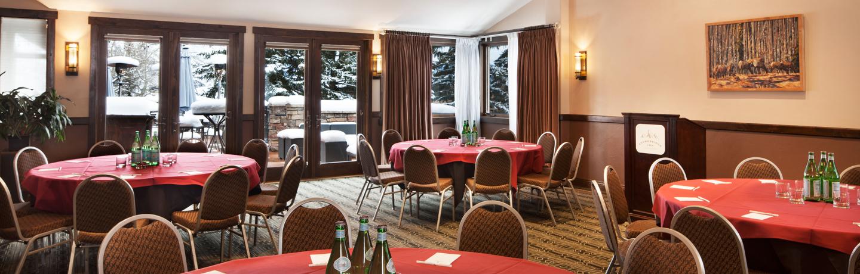 The Columbine meeting room inside the Stonebridge Inn, Snowmass Village, Colorado
